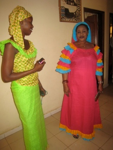 The morning of the wedding, Ami and her Mum