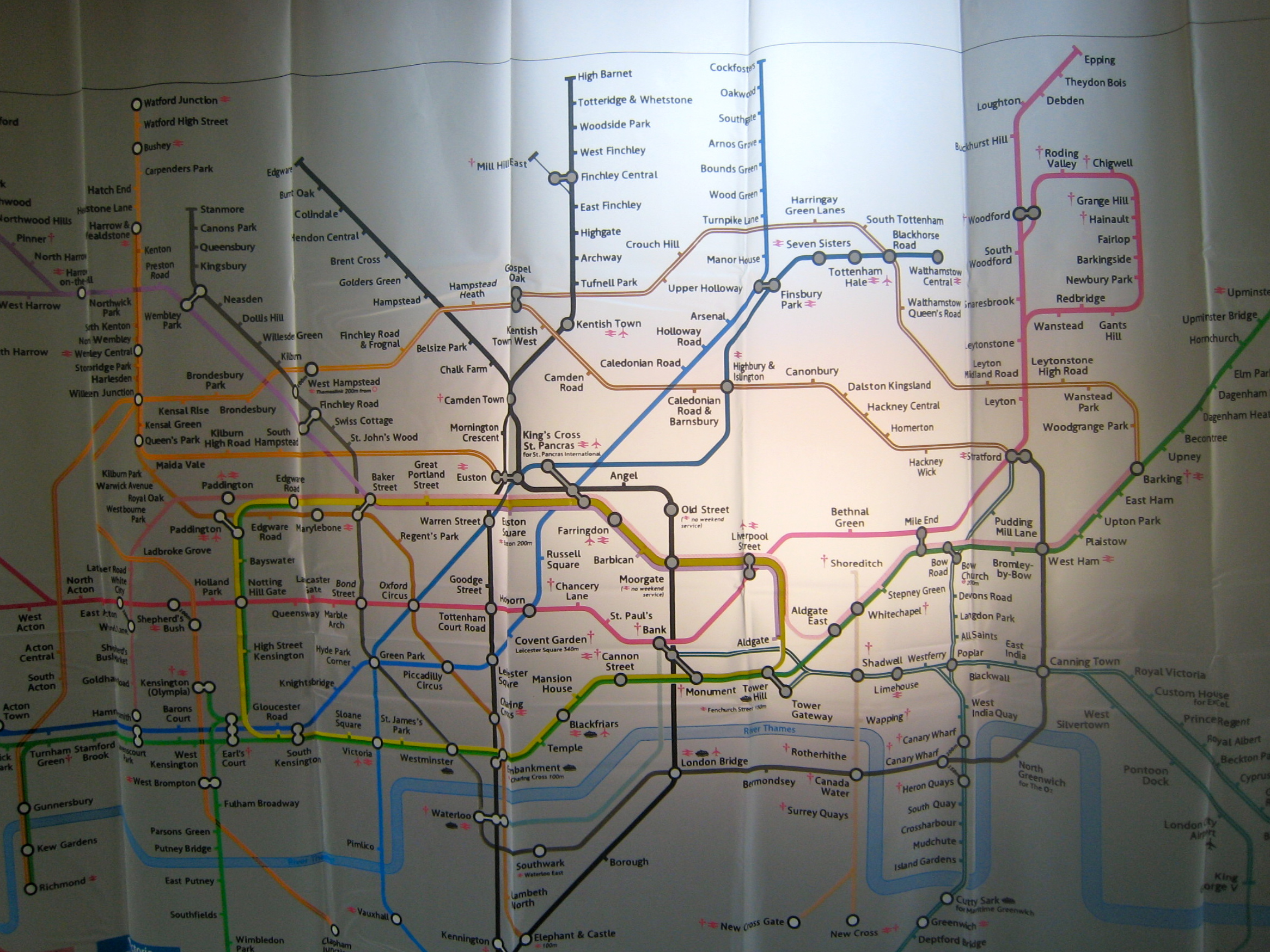 London Underground Map On Our New Shower