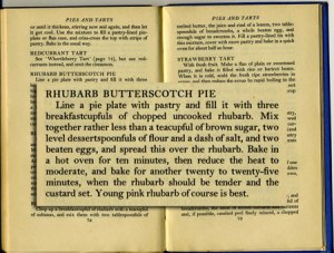 Rhubarb Butterscotch Pie