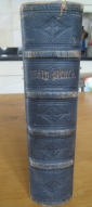 Beautifully tooled spine of the Family Bible