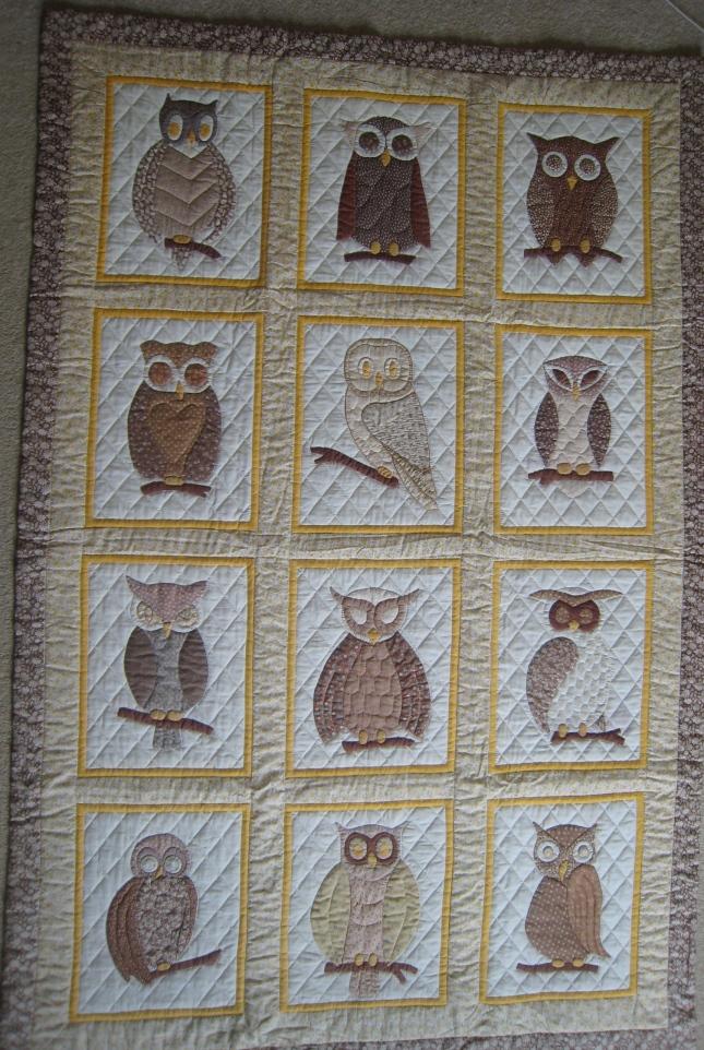 Owl quilt by Linda Hemmell