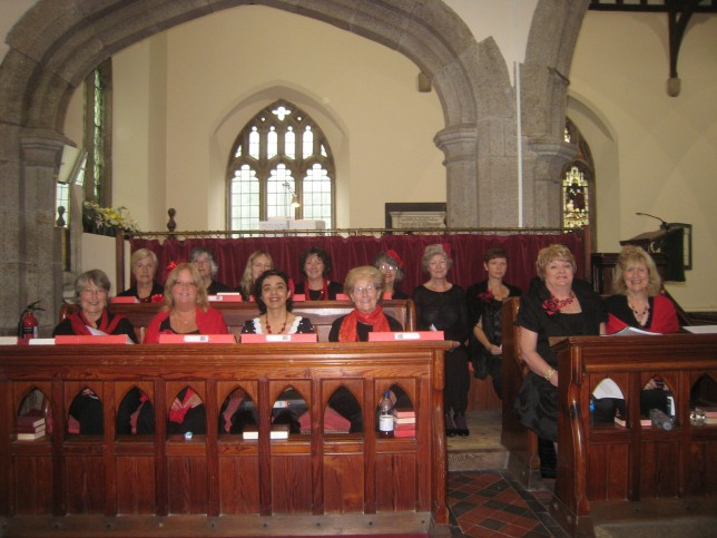 The Ingleheart Singers, altos and sopranos