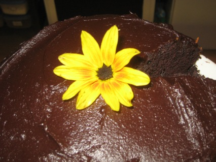 Flower on a cake