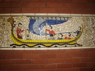 Mosaics near the car park
