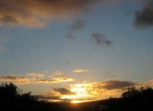 Sun almost gone