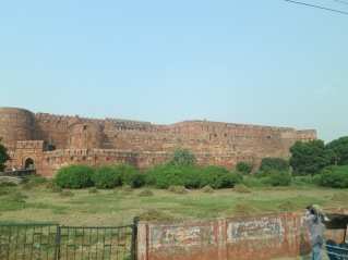 Agra Fort from the road - it's huge!