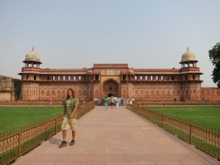 Leaving Agra Fort