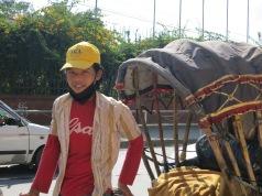 Our rickshaw driver in Kathmandu