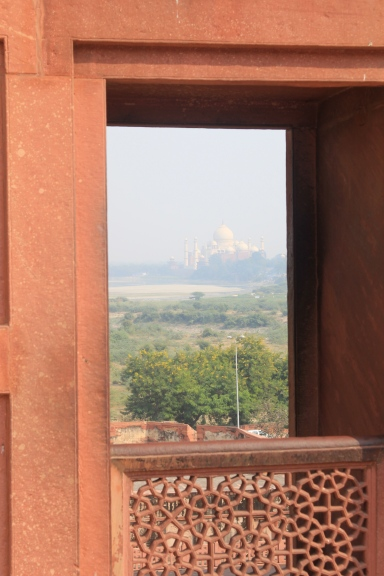 Taj Mahal from Agra Fort