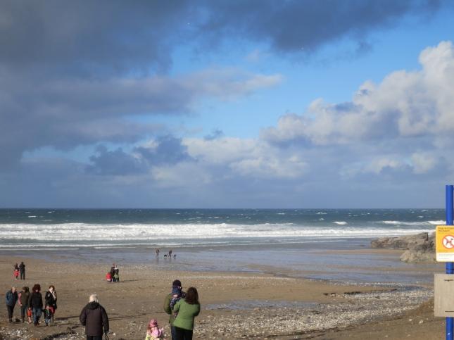 Christmas morning on Porthtowan Beach