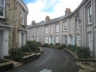 January 2012 - Walsingham Place, Truro, a beautiful curved Georgian terrace in Truro.
