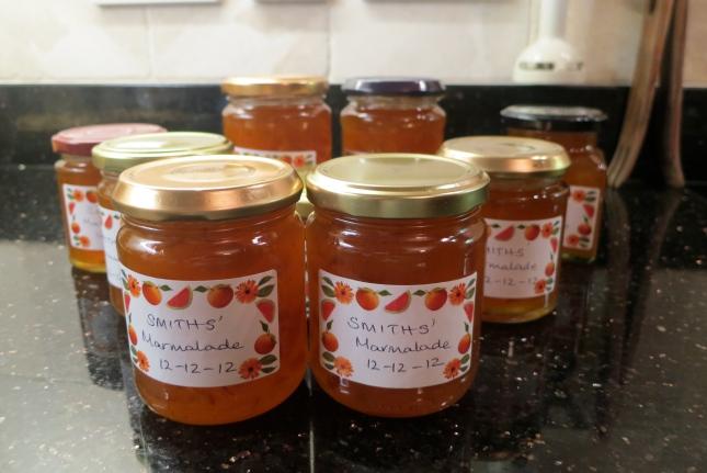 Marmalade dated 12-12-12
