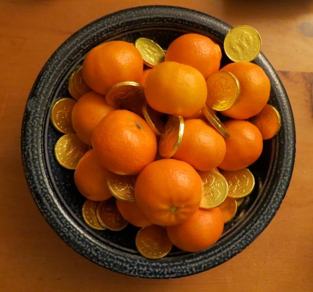 Tangerines and golden pennies