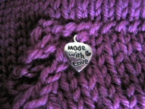 'Made with love' detail on hoodie