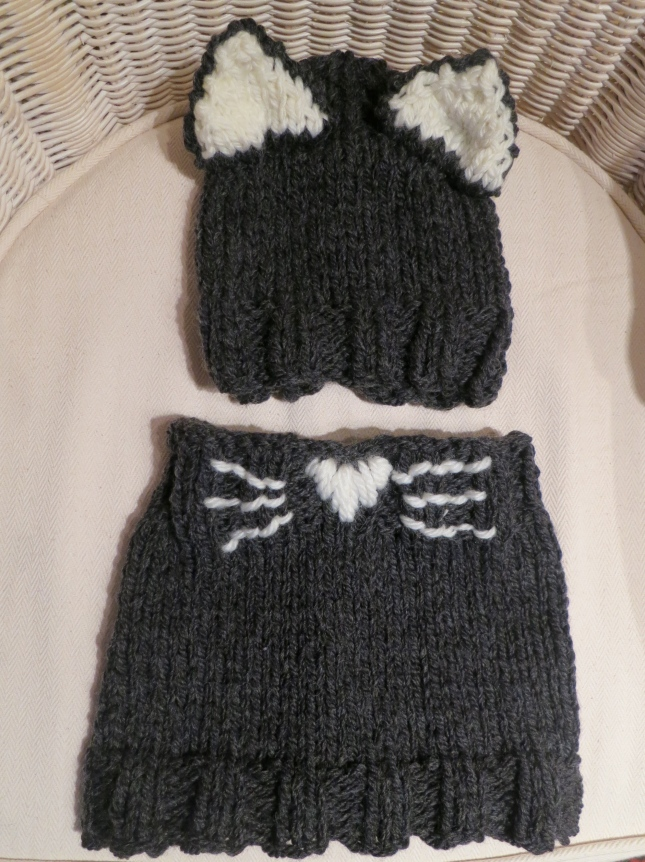 Cat Hat and Cowl for T