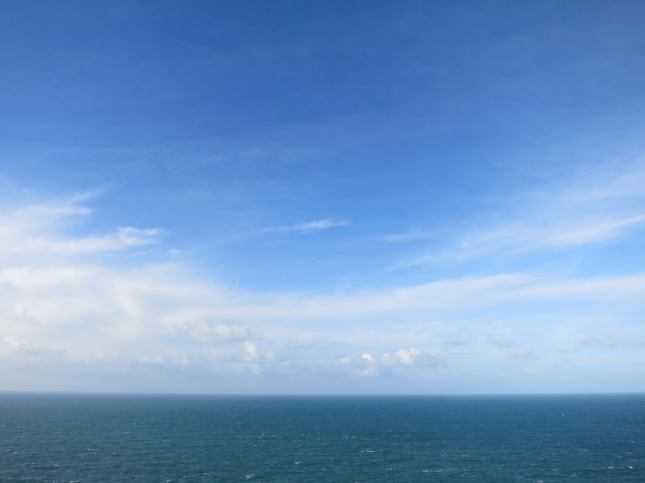 From the cliffs below St Agnes Beacon