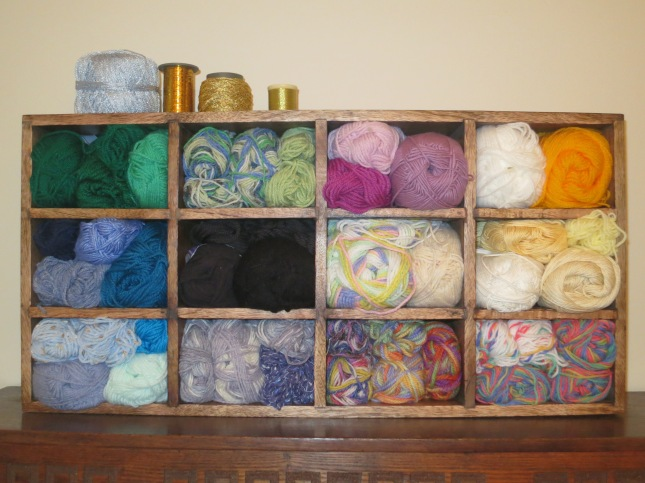 Wool all sorted and with lots of memories