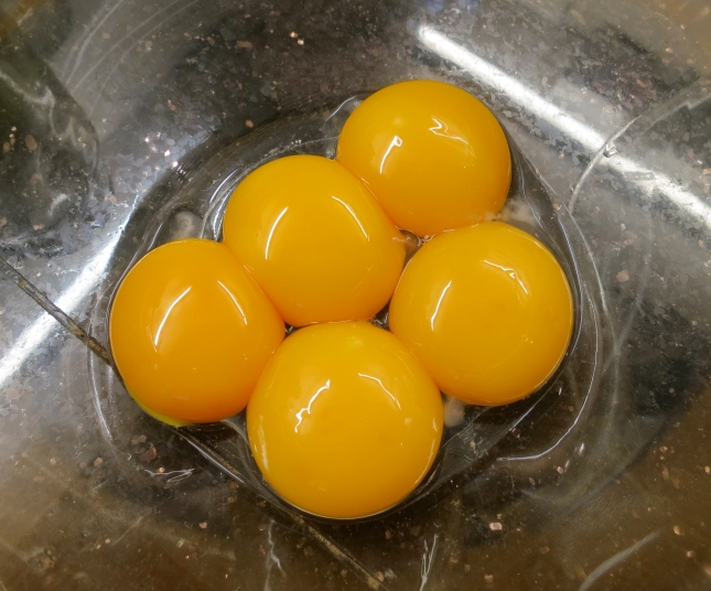 Beautiful separated egg yolks