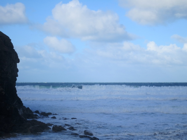 Huge waves crashing at Chapelporth