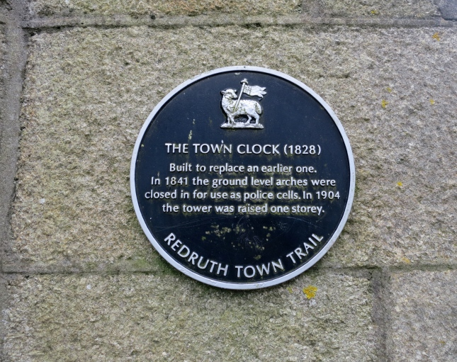 Plaque about our Town Clock