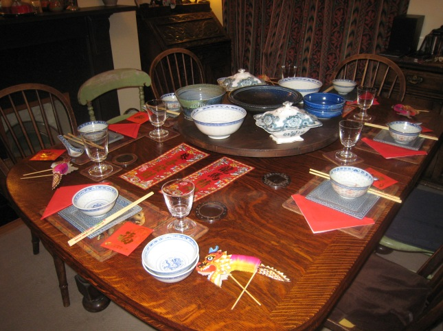 The table laid for Chinese New Year 2010