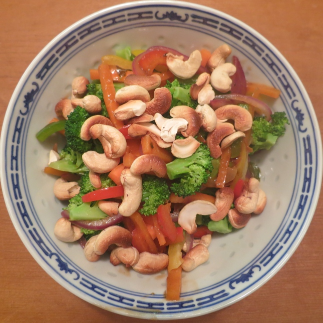 Vegetable Stir-fry with Cashew nuts