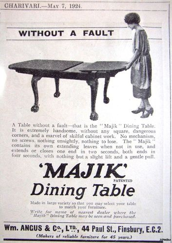 1930s oak 'Majik' dining table with patent extending action, by Perkins Bros, Leicester