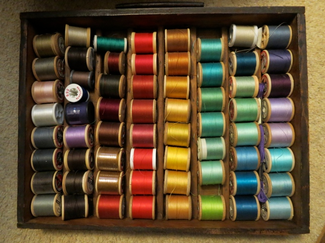Mum's rainbow cotton threads