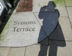 Symons Terrace and self-portrait