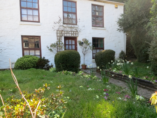 Cottage and pretty Spring garden