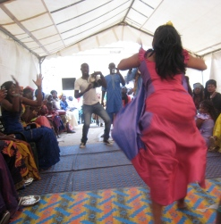 Dancing at a Senagalese wedding