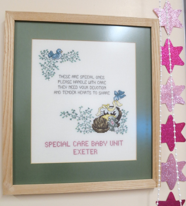 Cross stitch in the Neo Natal Unit, Exeter