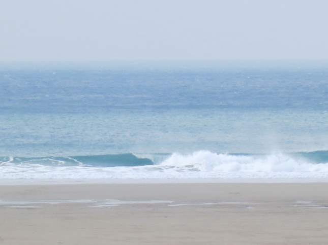 Off shore wind and a cold April sea