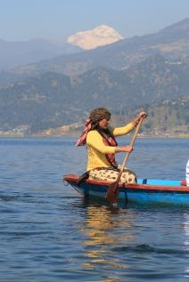 On the lake at Pokhara