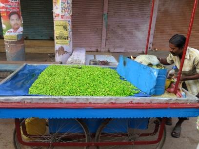 Pea stall in Varanasi