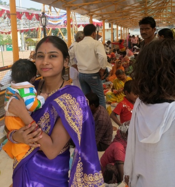 Proud and beautiful Mum in Sarnath