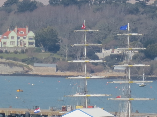 Tall ship's masts