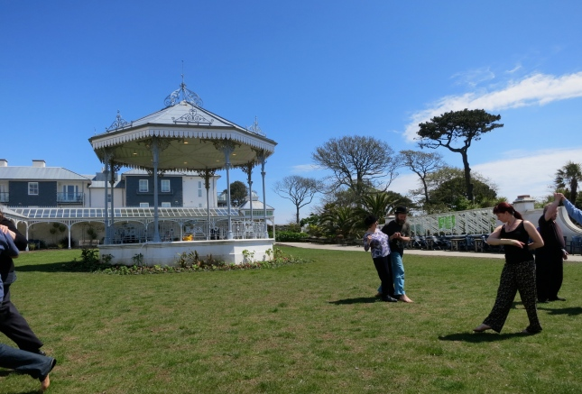 Dancing on the lawn near the Bandstand