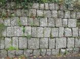 Cornish hedge, granite blocks