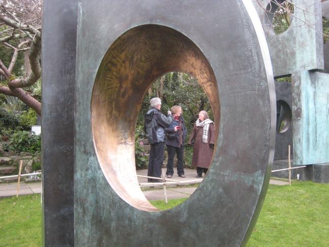 Friends in the Barbara Hepworth garden
