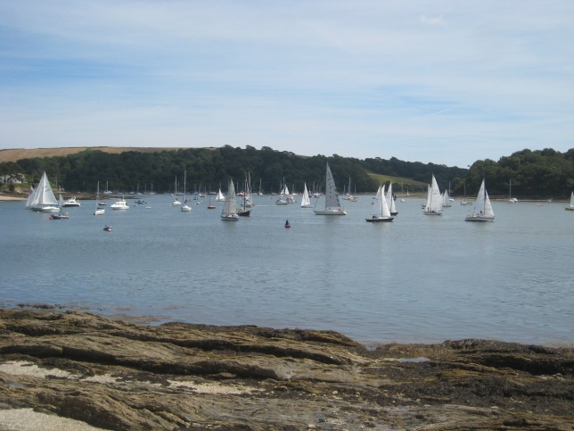 Yachts on the water at St Mawes