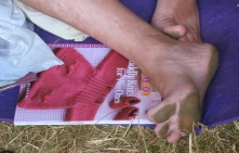 I took this to get the title of the knitting pattern book - and loved the mud pattern on the toes and feet!