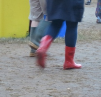 Red wellies