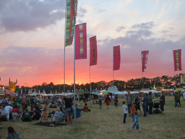 Sunset over WOMAD