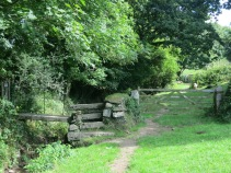 A gate, a stile and a bridge