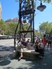 Gaudi lamp-post and seat