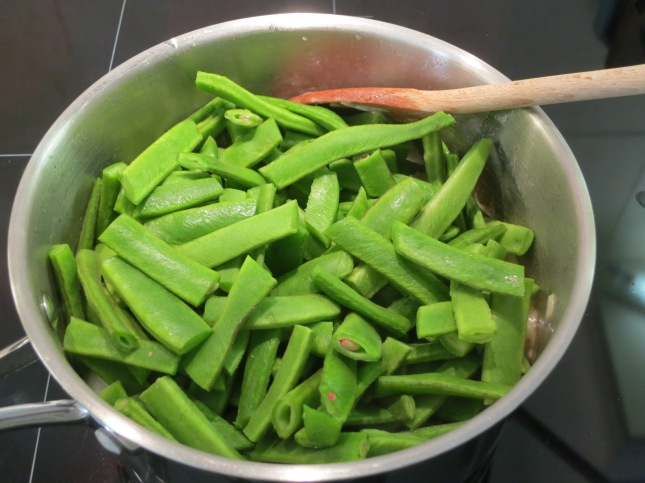 Beans roughly chopped