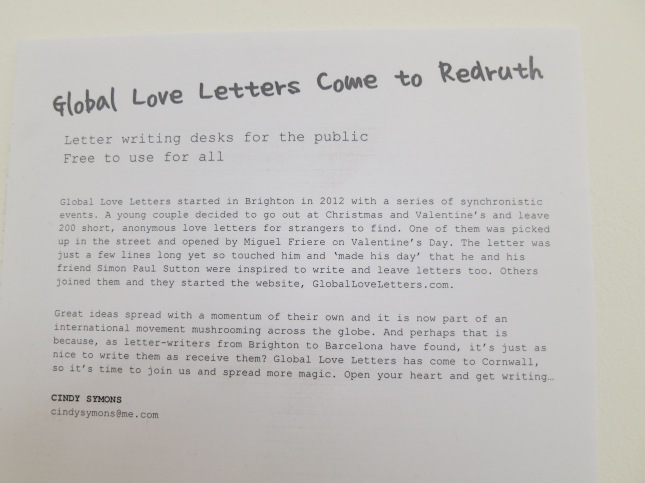 Global Love Letters come to Redruth