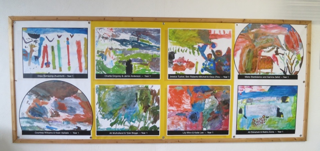 Paintings by local children