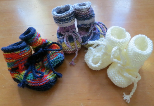 Three pairs of SallyBoots